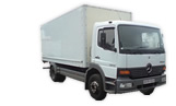 Mercedes-Benz 818 Atego Koffer mit Ladebordwand